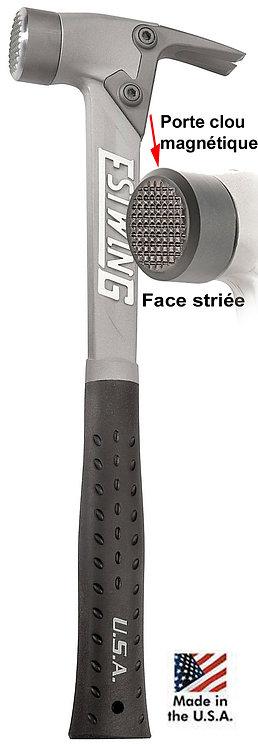 Marteau Estwing AL-PRO manche aluminium, poignée vinyle noire, tête striée