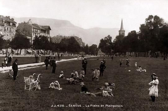 Plaine de plainpalais dans les années 1900