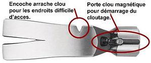 Marteau ultra série avec arrache clou et porte clou magnétique.