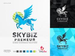 ออกแบบโลโก้ SKYBIZ PRENEUR