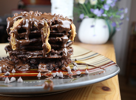 Peanut Butter Chocolate Pancakes