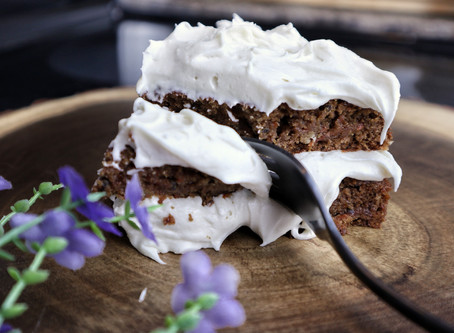 """Carrot Cake with """"Cream Cheese"""" Icing"""