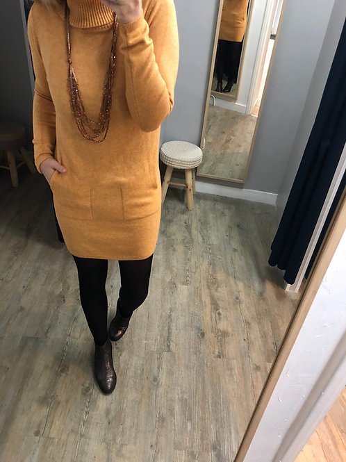 Robe pull LANA Moutarde