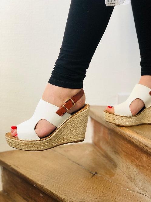 Sandales compensées en corde LALY