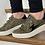 Thumbnail: Baskets VANESSA WU éclair kaki imprimé guépard