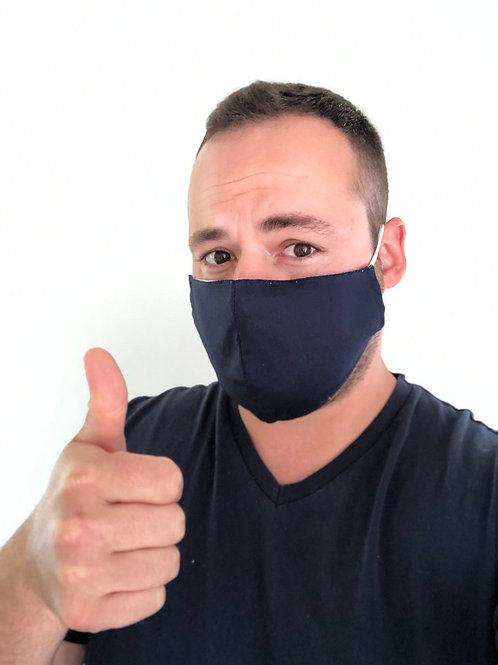 Masque MIXTE en tissu bleu marine