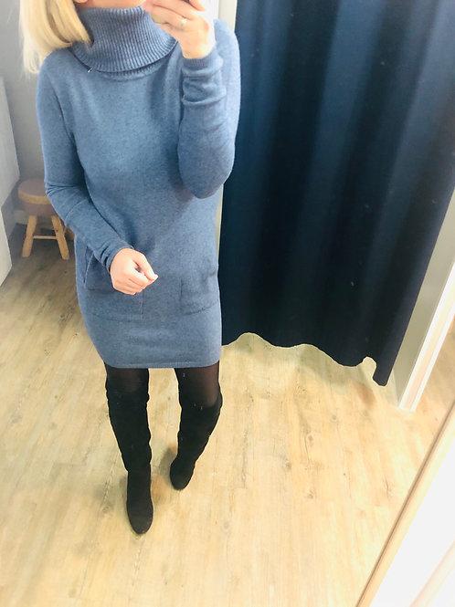 Robe pull LANA bleu jeans