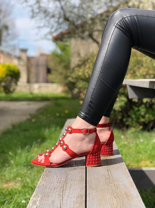 Sandales briques festonnées VANESSA WU