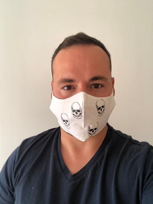 Masque HOMME blanc tête de mort