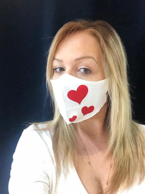 Masque en tissu CŒUR