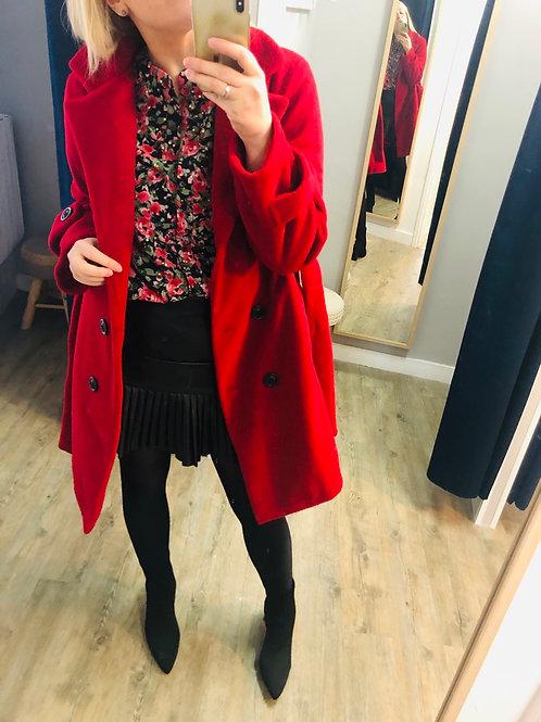 Manteau BECCA rouge