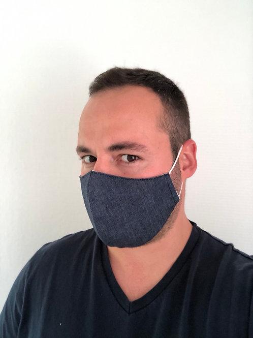 Masque HOMME  en tissu en jean