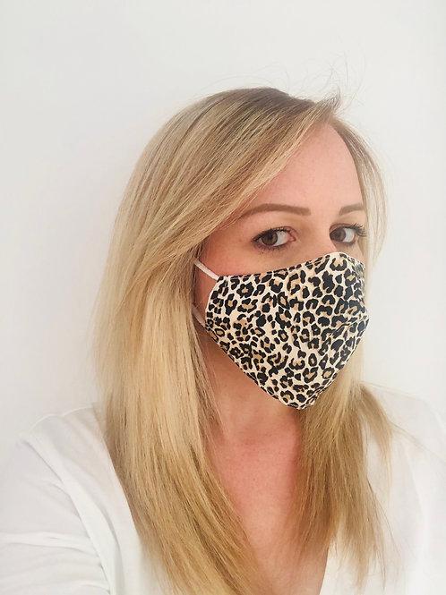 Masque FEMME en tissu  léopard