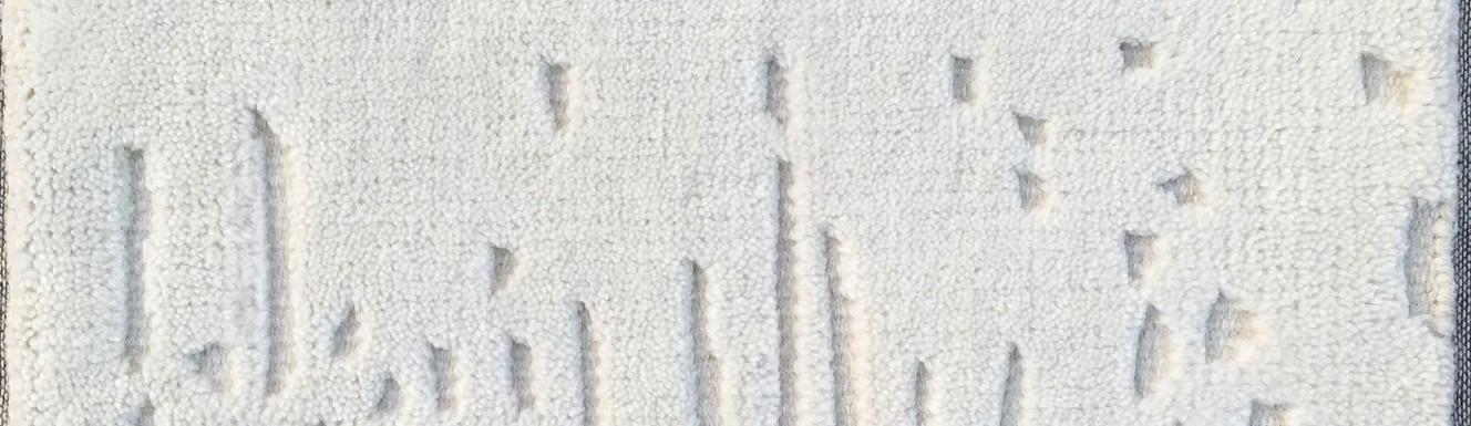 Tapis noué main avec motif ciselé
