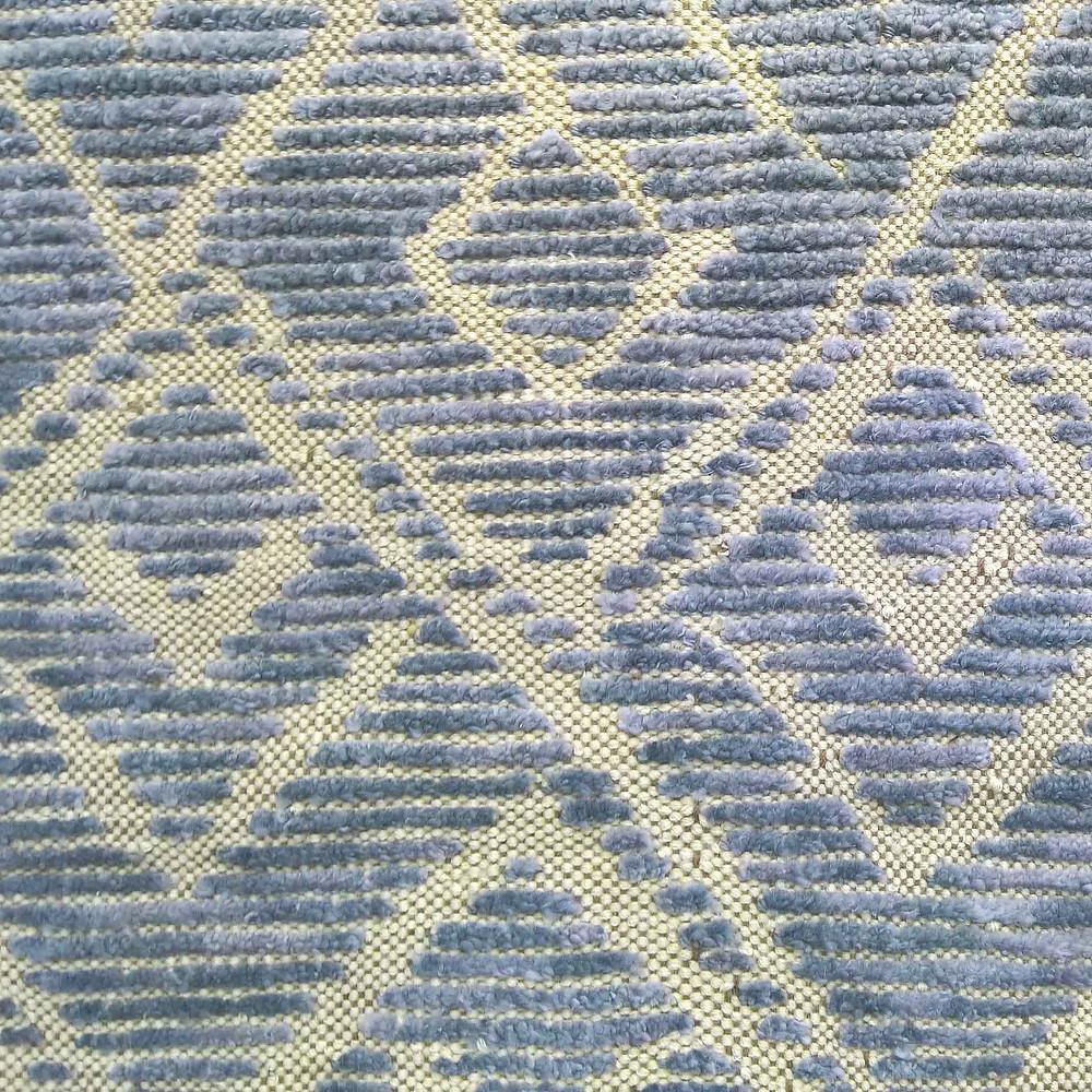 Soie de bambou nouée dans une toile tisée en laine de Nouvelle Zélande