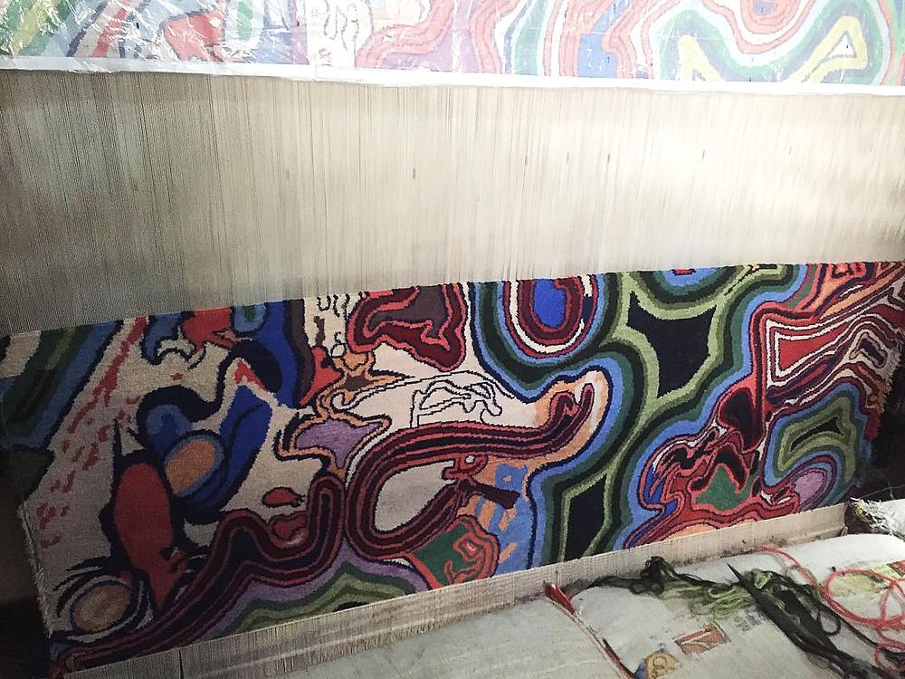 Fabrication du tapis noué au Népal de Boris Mestchersky