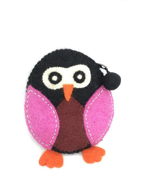 Vilten portemonnee Pinguin