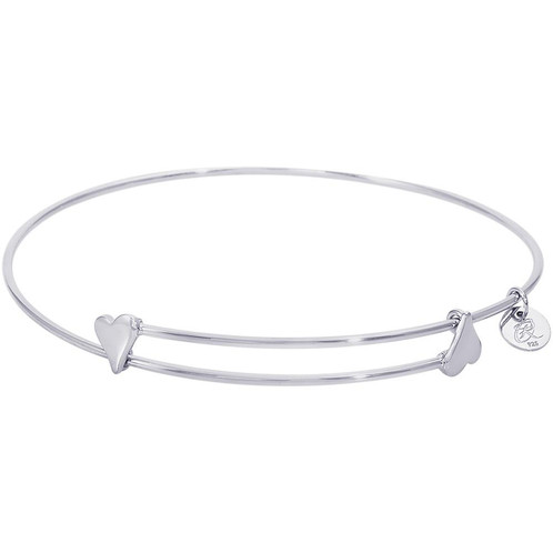 inches bracelets silver jb plated with black bangle channel circle bangles bracelet design nunn