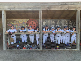 18Us in the Rockford Peaches' Dugout