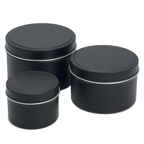 Black Tin Candle 200gm