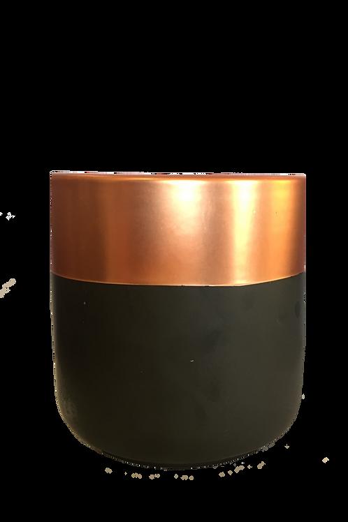 Metallic Rose Gold & Matte Black Candle 460gm