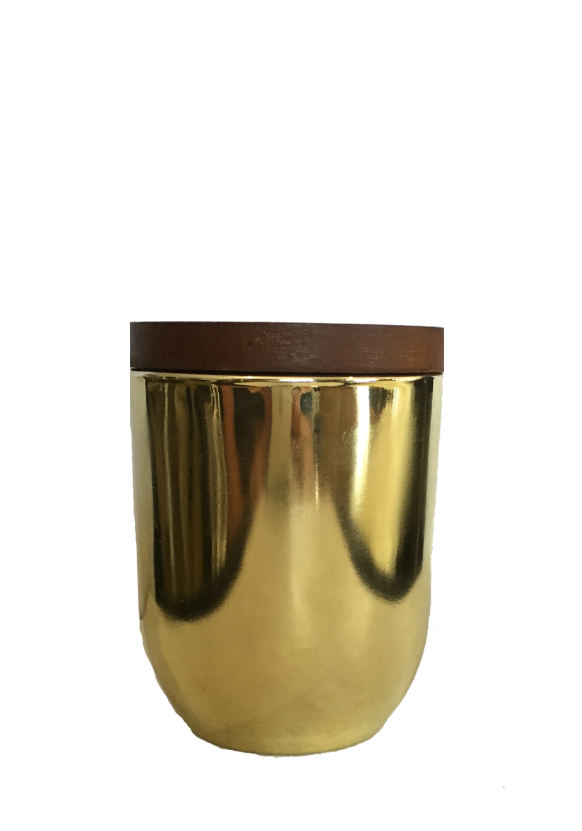 The Wooden Wick Mini Yellow Gold Candle