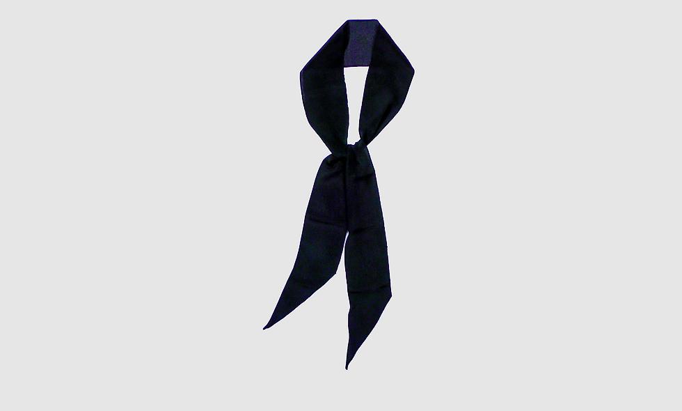 Midnight print silk scarf