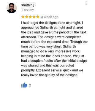 Client's reviews for Sidharth Gera - Best Logo Designer in Bangalore