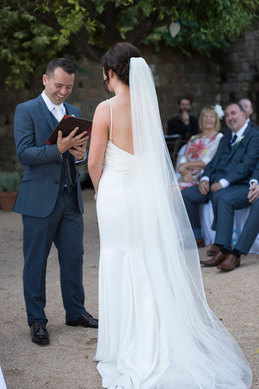 photos of beautiful wedding ceremony by professional wedding photographer Dublin