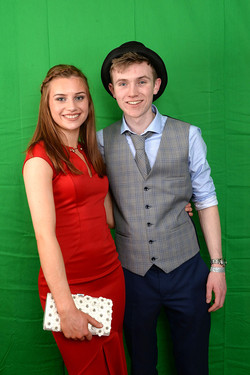 couple with green screen background