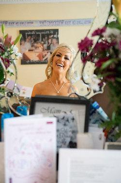 natural wedding photo of bride