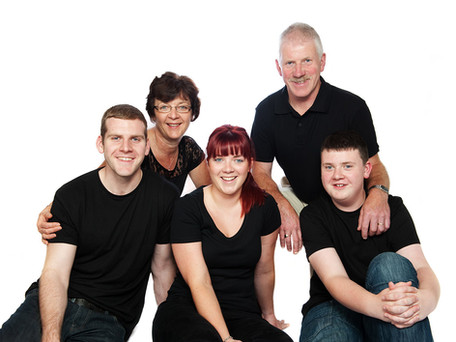 professional studio family portraits at your home