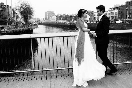 wedding shoots in dublin city by wedding photographer