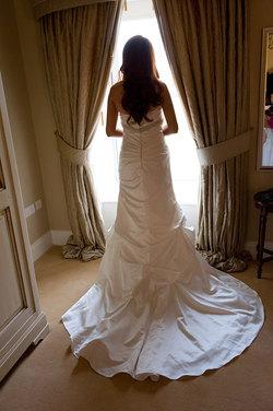 best wedding photo of bride by wedding photographer