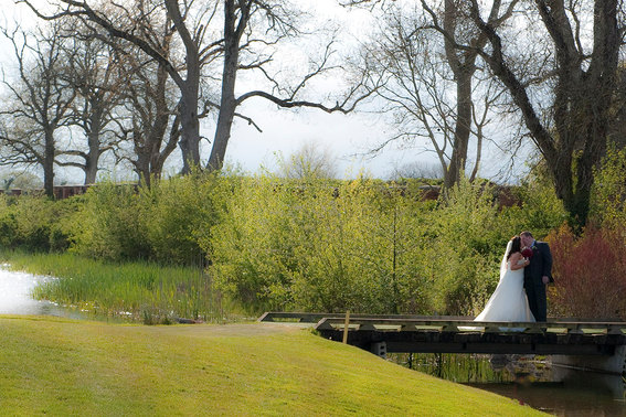 wedding photograph of couple in natural setting
