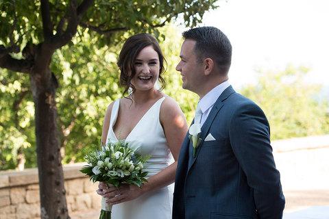 fun wedding photography smiling couple