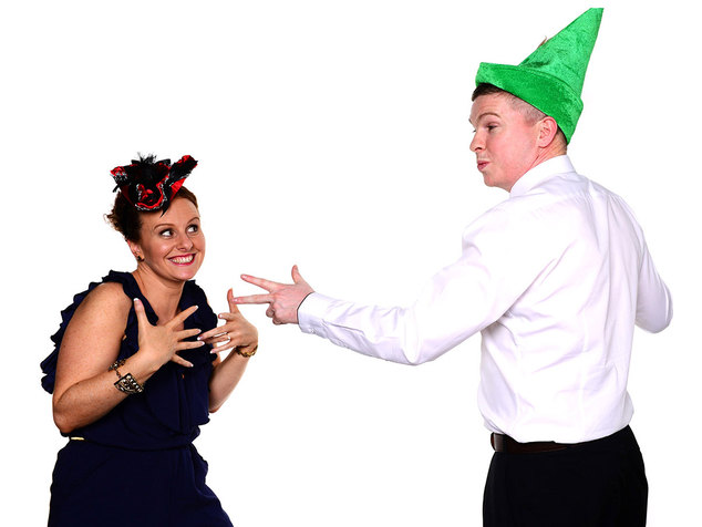 fun photo booth shot by professional wedding photographer