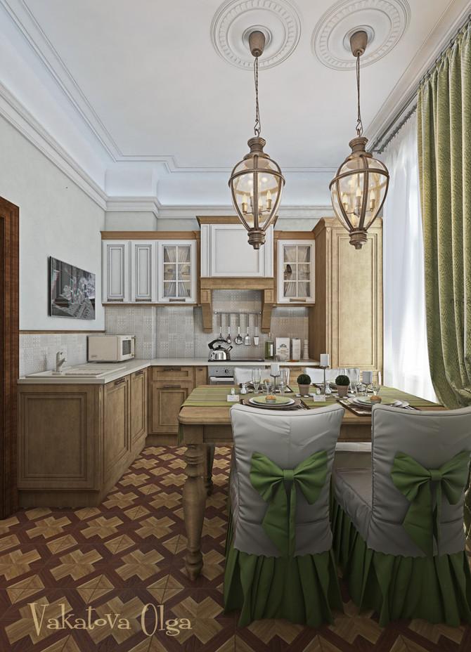 Даже очень маленькая кухня в сталинке может быть невероятно милой и уютной.