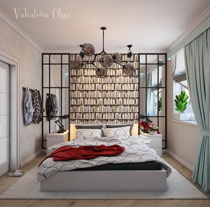 Маленькая спальня. Расширяем пространство.