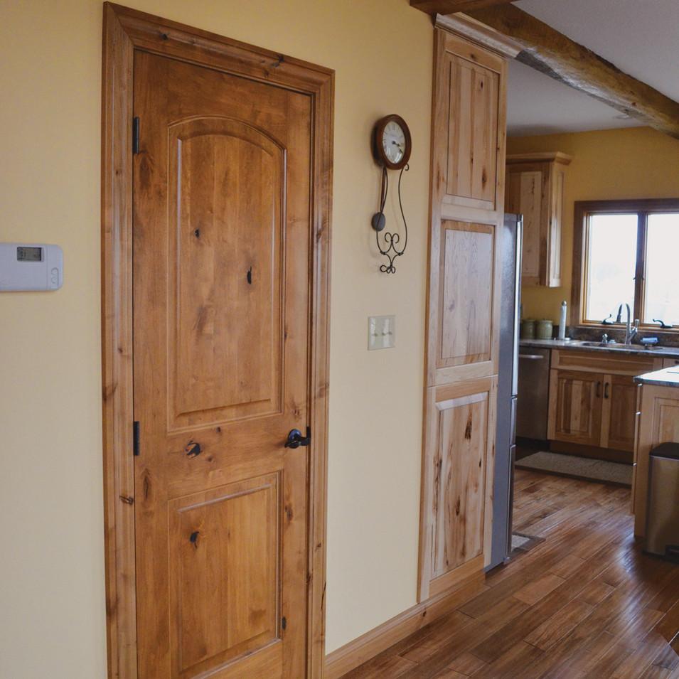 Interior wood door sold by The Woodsmiths in Kalamazoo, MI.