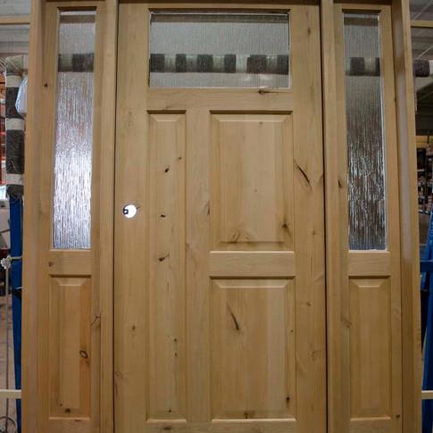 Custom exterior door sold at The Woodsmiths in Kalamazoo, MI.