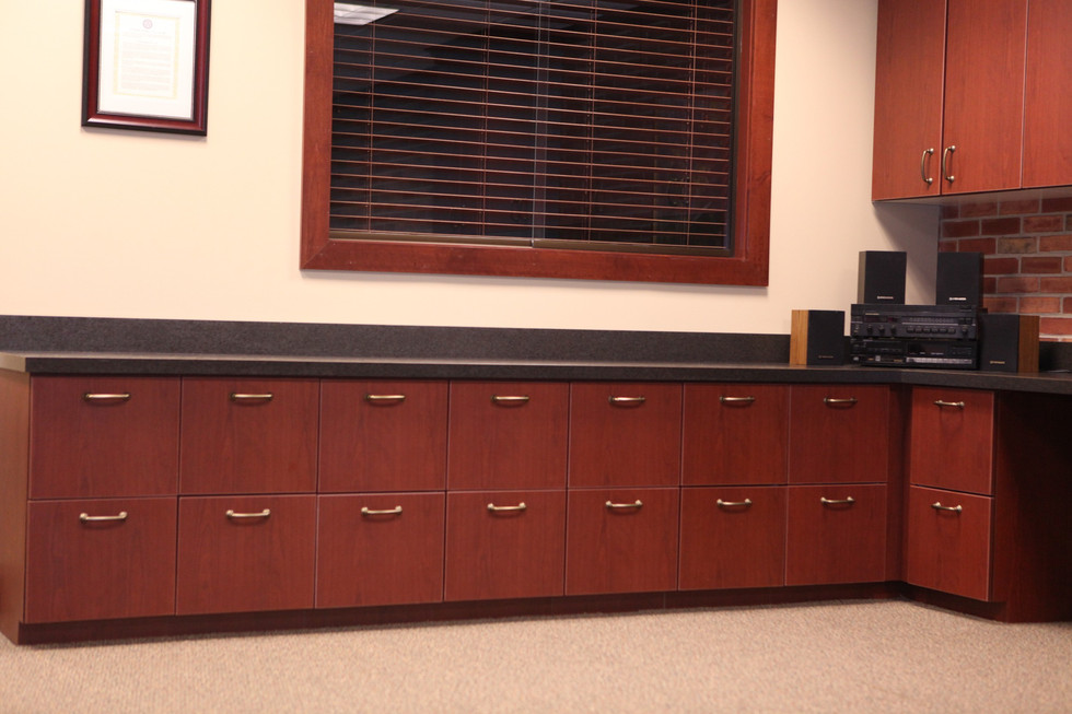 Hillsdale College Office Cabinets and Countertop