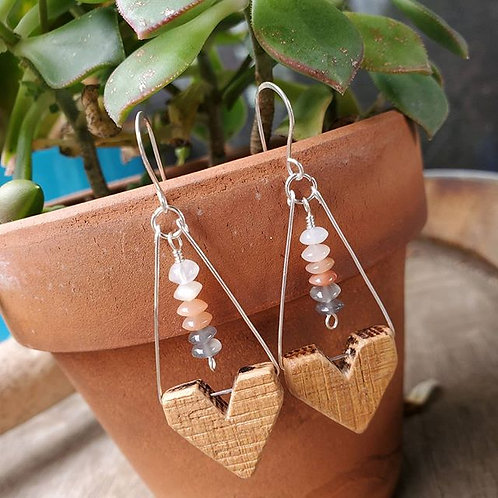Shades of Moonstone Earrings