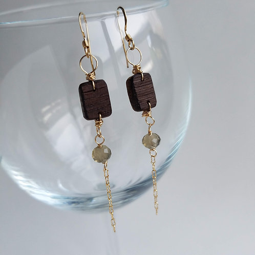 AVA Vintage Crystal Earrings