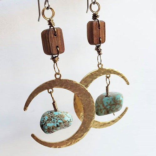 Moon & Stone Earrings