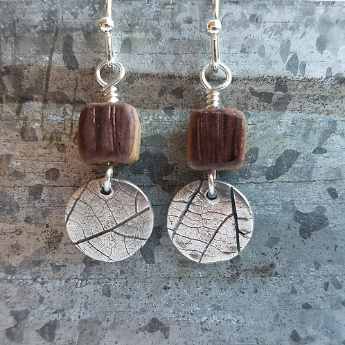 Grape Leaf Medallion Earrings