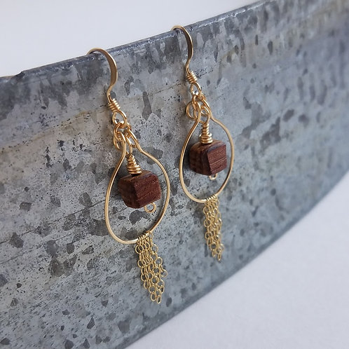 Golden Dawn Hoops with Fringe