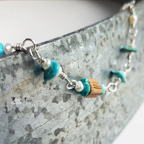 Precious Turquoise & Pearl Bracelet