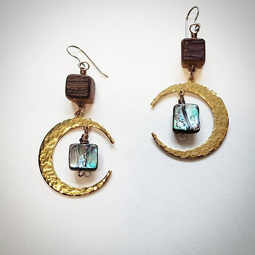Moon & Shell Earrings