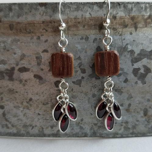Triple Cabochon Earrings